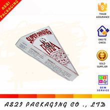 crazy selling popular custom logo printed triangle sandwich box for packaging