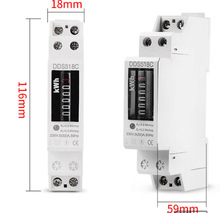 wenzhou factory Single Phase Counter DIN Rail kwh Watt hour <strong>meter</strong>