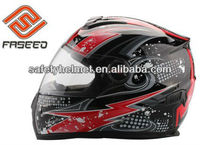 ABS full face helmet FS-806 Fashion Decals with DOT approved
