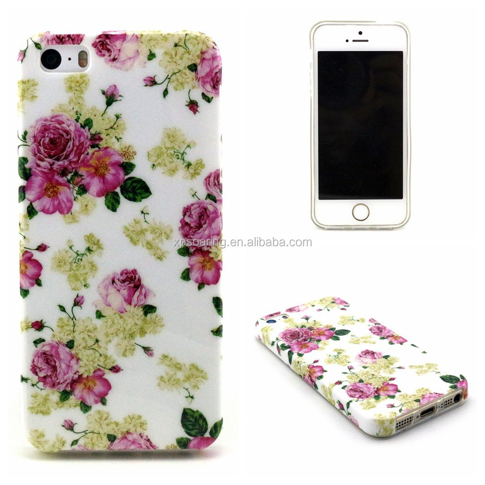 IMD TPU back cover case for iphone 5G 5S