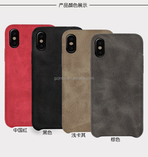 Wholesale ultra-thin shockproof hard phone case with PU for iPhone 8 8plus