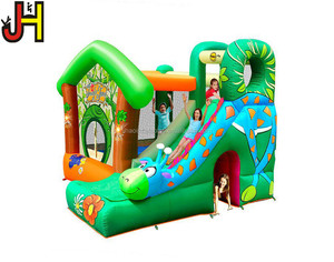 Happy Hop Inflatable Bouncer With Slide Combo, Inflatable Theme Bouncy Castle For Sale