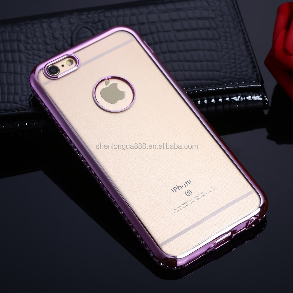 China supplier wholesale TPU smartphone case for iphone 6, Electroplate cell phone case for iphone 6 unlocked