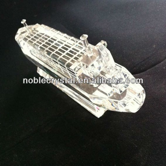 Crystal Ship Model for Office Decoration