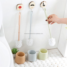 High quality home Cleaning handle plastic toilet brush with holder