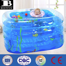 customized rectangular inflatable pool new born baby swimming pool plastic indoor pool