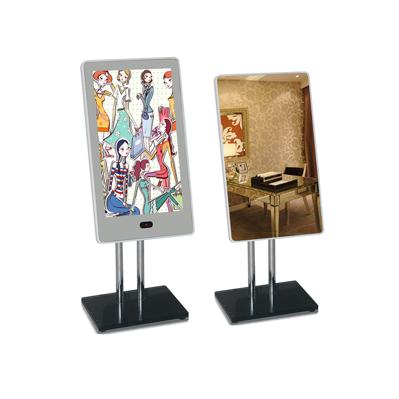 14 inch LCD advertising player magic mirror with motion sensor