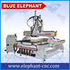 1325 3 axis auto tool change cnc wood carving machine , woodworking cnc router with 3 spindles