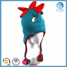 2017 handmade soft warm cute design animal knit children winter hat