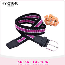 Latest design fashion elastic polyester elastic woven belt