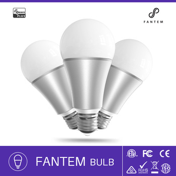 Fantem Z-wave Smart home led bulb battery charge led lighting E27 9w energy saving bulb