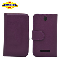 PU Wallet Leather Case For Sony Xperia E