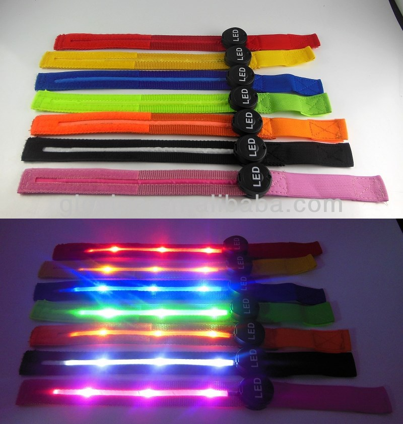 Led light up arm strap led armband for running sport led armband