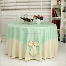 Wholesale wedding event decoration polyester jacquard table cloth