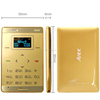 DIHAO AIEK M3 Card Phone Dual Sim Mini Touch Ultra thin slim phone Aeku Phone MP3 FM Bluetooth