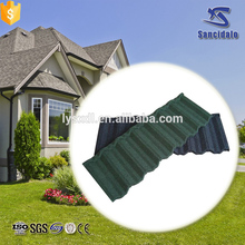 Kerala style stone chip coated metal roof tile for house roof with wind resistance 190km/hour