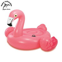 Wholesale Hot Sale Best Giant Cheap Plastic PVC Pink Inflatable Flamingo Pool Float for sale