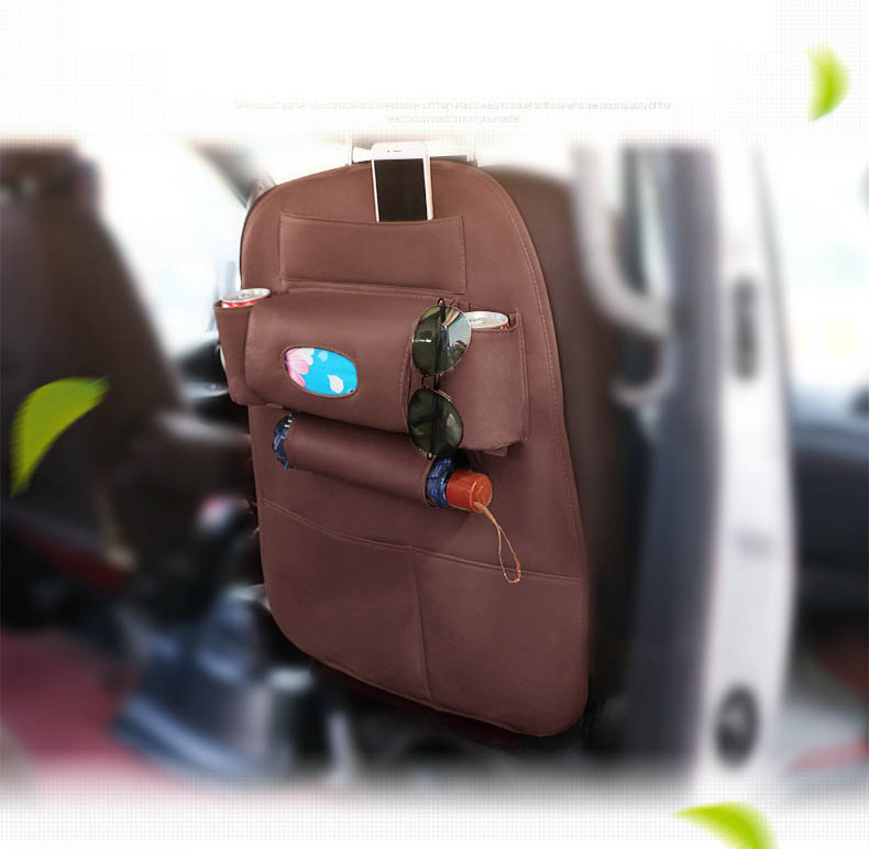 Car Seat Back Protectors With 7 Organizer Pockets