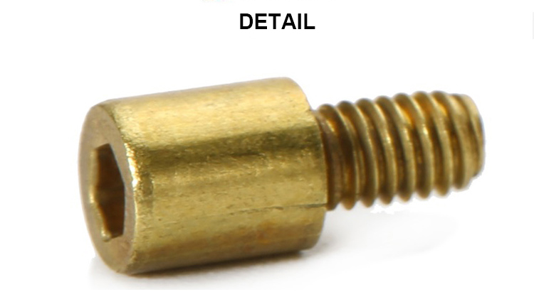 Customized Brass CNC Machined Threaded Bolt Extender