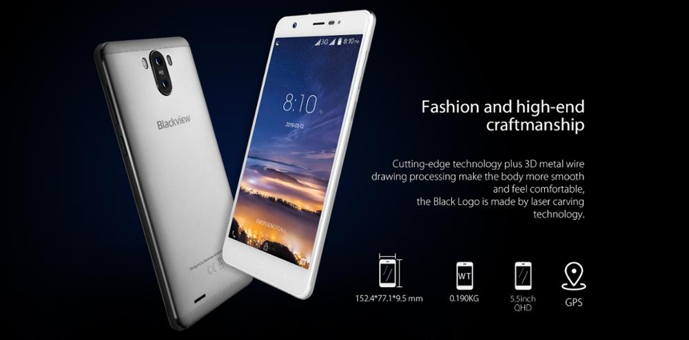 Competitive Mobile Blackview R6 Lite Android 7.0 16GB ROM 2.0+8.0MP 2900mah 3 Colors