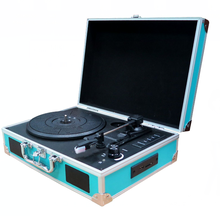 Vinyl Collection 3 Speed Usb Suitcase Turntable Vinyl Record Player Wholesale With Built In Speakers And