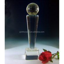 MH-JB0096 unique memento trophy with ball transparent crystal trophy
