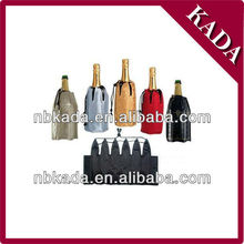 neoprene gel wine bottle cooler bag
