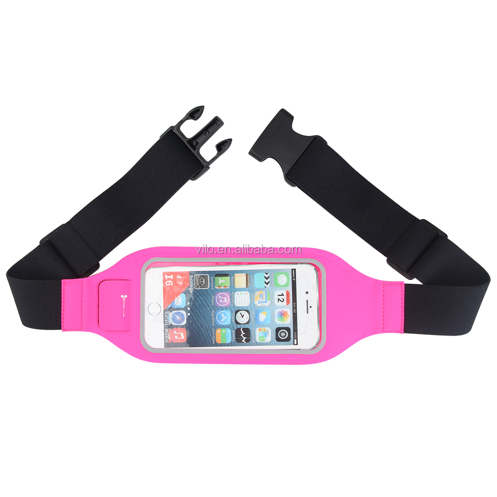 Factory Waterproof Running Belt Waist Bag for apple smart phone