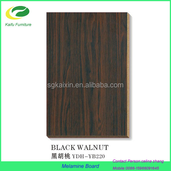 Melamine faced cheap particle board veneer for dining