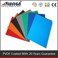 Alusign acp 2-6 mm panel thickness kaca dan aluminium composite panel