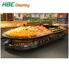 Supermarket Fruit shelf/ Fruit And Vegetable Display/ Wood Fruit Stand Vegetable Rack