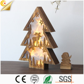 Hot sale wooden lighting christmas lights decorations