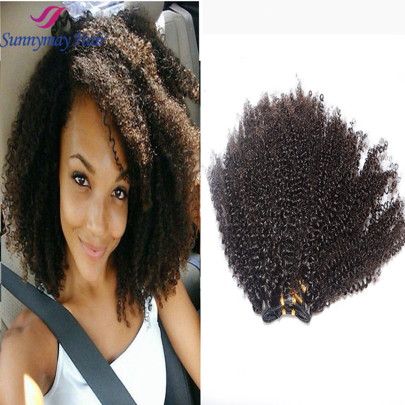 Brazilian Human Hair Afro Kinky Curly Clip In Hair Extensions 4C Afro Kinky Curly Braiding Human Hair Weave