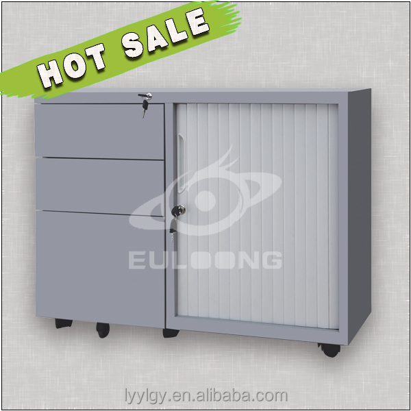Euloong steel office furniture manufacture/Modern jewelry storage with blinds door design for bedroom