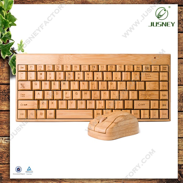 high quality wooden wireless keyboard ,keyboard and mouse combo