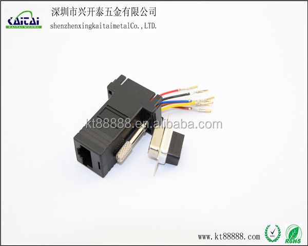 db9 female rs232 to rj45 d-sub computer adapter cable