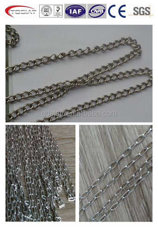 stainless steel chain twisted link straight link small link