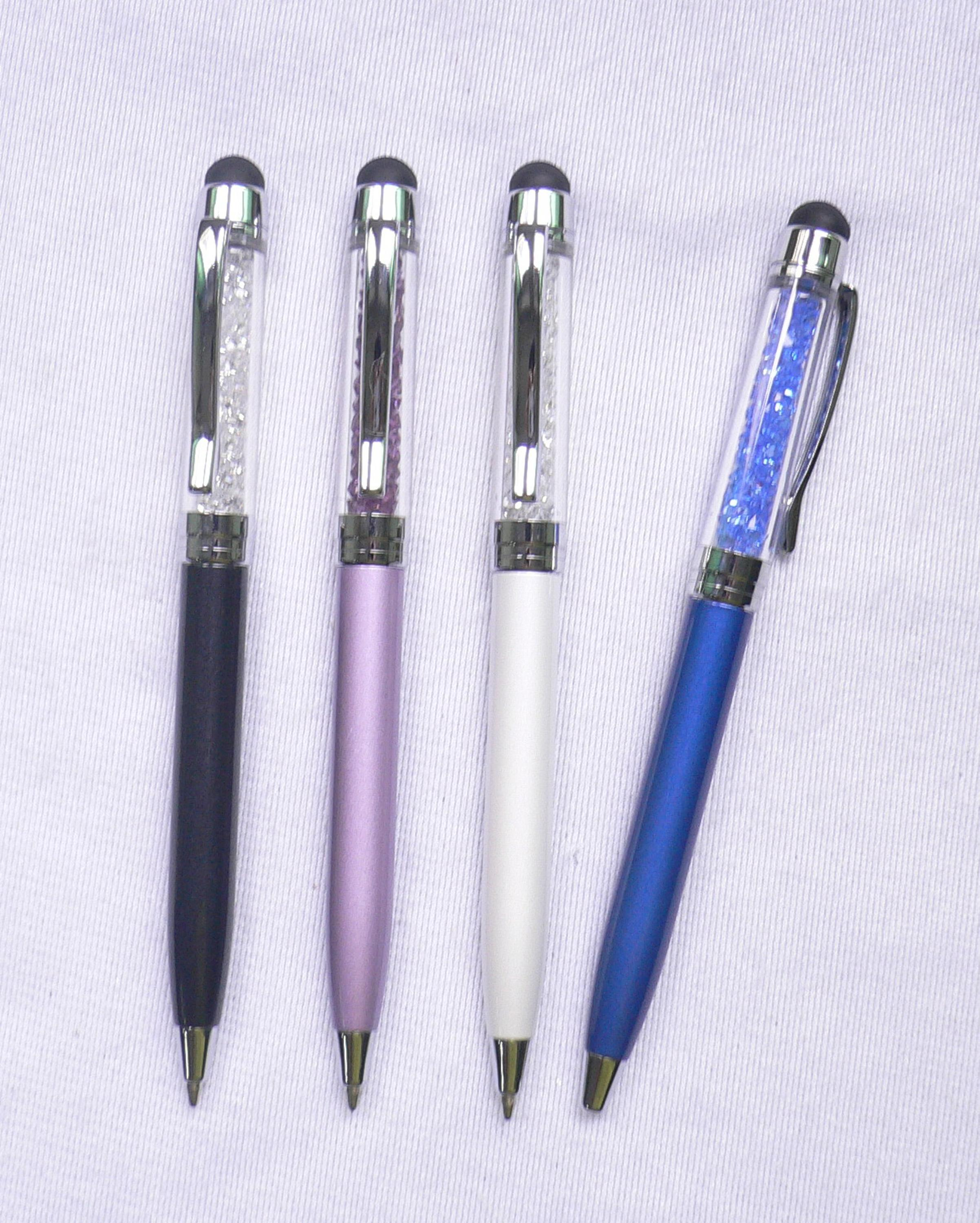 Customized Color And Logo Promotional Metal Touch Pen Crystal Stylus Pen For Screem Smart Board
