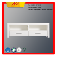 AKA White Wood Low TV Cabinet For Living Room Furniture