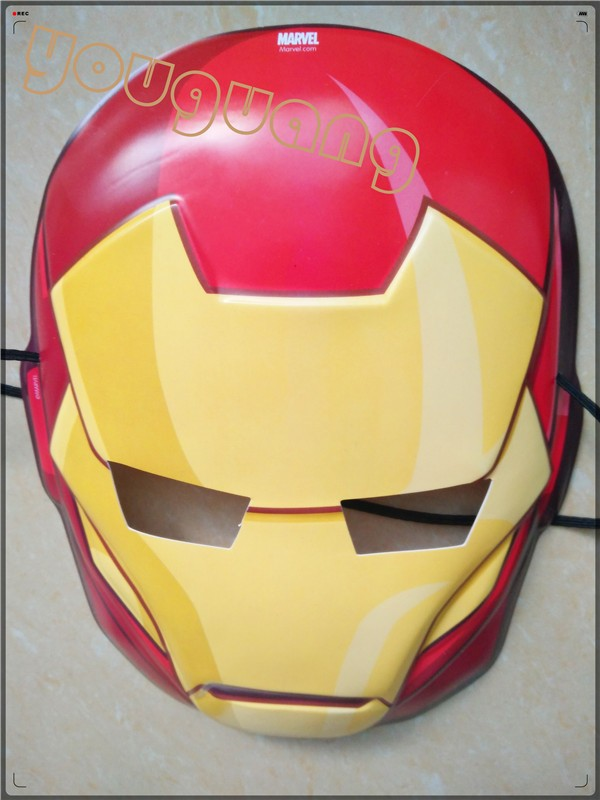 cartoon hero iron man mask children toys design of party face mask
