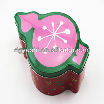 Christmas Tin Gift Packing Box With Cute Santa Snowman