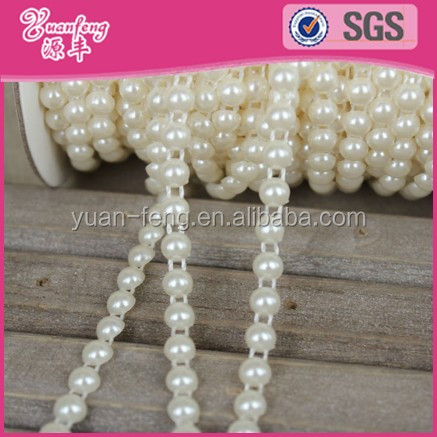 Plastic Flat Round Pearls Strands Wholesale