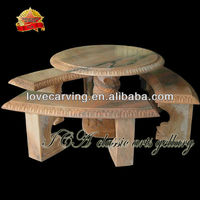 Sunglow red marble outdoor marble table set,stone table set,stone table and chair