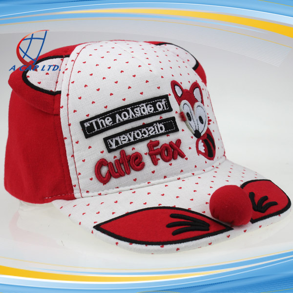 Hot Sale Fashion Cute Children's Fox Pattern Baseball Hats