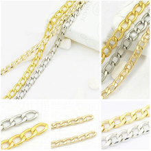 Oval Shape Sterling Silver Snake Iron Chain Neck DIY Necklace Gold Chain