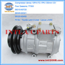 Compressor Denso 10PA17C for Toyota / Lexus 4S#77393 88320-60580 88310-60720 88320-60321 471-0166
