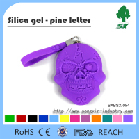 Colorful Skull Silicone Coin Wallet Coin Purse