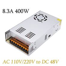 New AC 110V/220V to DC 48V 8.3A 400W Lighting Transformers High Quality Short Circuit Protection Led Strip Power Supply