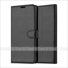 MOQ 20 pcs lichee wallet PU flip back cover leather phone case with card slots for Sony Xperia XA Ultra