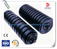 133mm diameter impact rubber coated conveyor rollers for material handling equipment